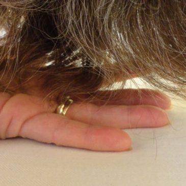 Haar auf meiner Hand